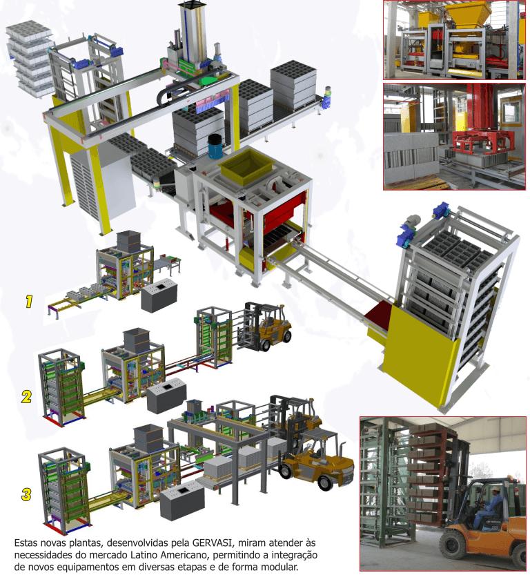 Máquina de Blocos Hidráulica Automática Gervasi BX-650