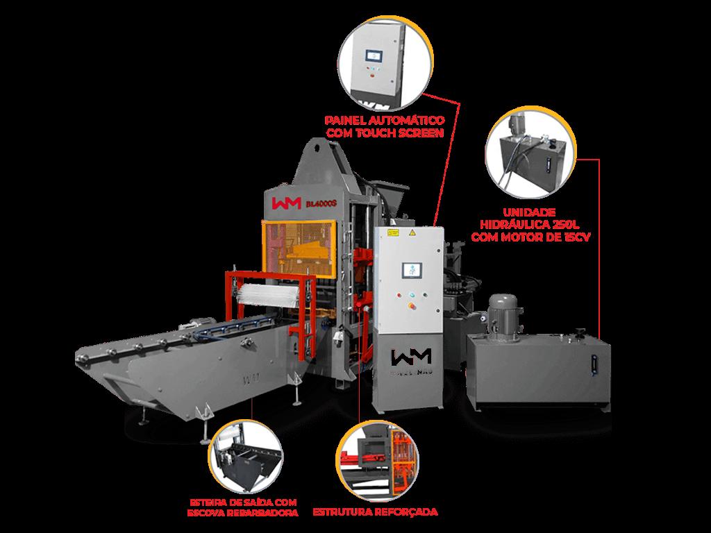 Máquina de blocos e pavers BL4000S