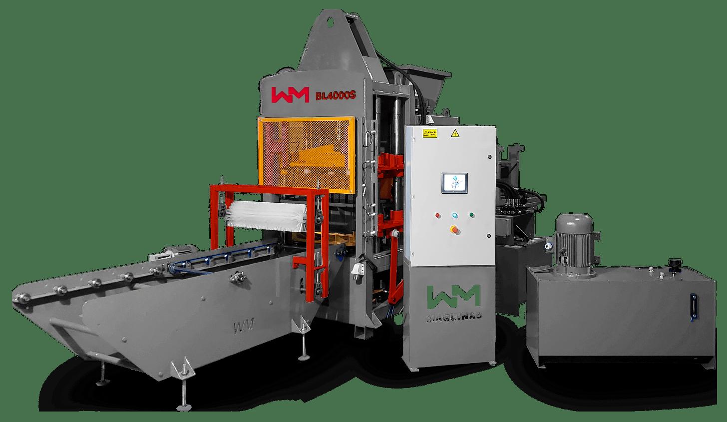 Máquina de blocos hidráulica BL4000S