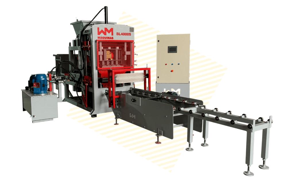 Máquina para fabricar Blocos e Pavers Automática BL4000S